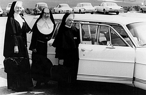 Nuns and their station wagon