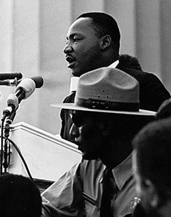Martin Luther King at March on Washington