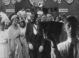 Production still from Bert Williams Lime Kiln Field Day Project. 1913. Odessa Warren Grey and Bert Williams