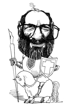 Umberto Eco, by David Levine