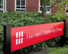 Harvard University Press sign