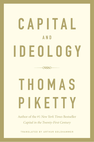 Jacket, Capital and Ideology by Thomas Piketty, Harvard University Press