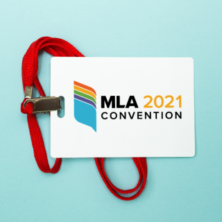 Image of MLA 2021 convention badge